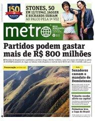 Partidos podem gastar mais de R$ 800 milhões - Metro