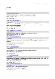 Programme campagne Sparation glises et Etat - Centre d'Action ...