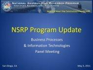 Program Update - NSRP