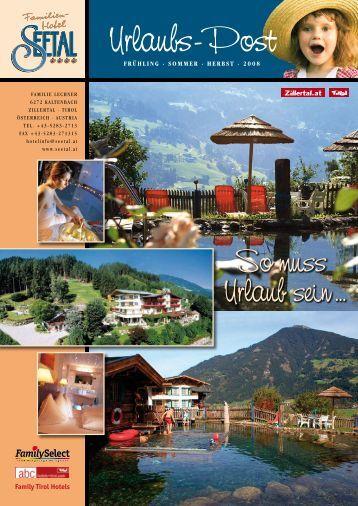 Urlaubs-Post - Familienhotel Seetal