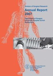 Annual Report 2007 - Klinik für Thoraxchirurgie