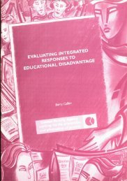 Evaluating Integrated Responses to Educational Disadvantage (2000)