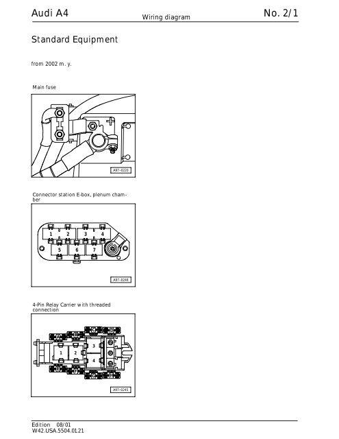 Wiring Diagram Audi A4 2002