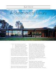A Statement of Luxury - Robert Mills Architects