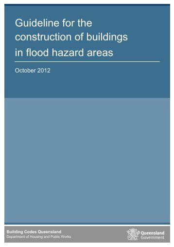 Guideline for the construction of buildings in flood hazard areas