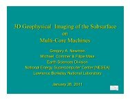 3D Geophysical Modeling Imaging of the Subsurface on Multi ... - ICCS