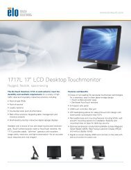Elo 1717L Product Brochure - Touch Screens Inc.