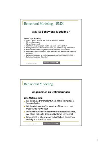 Behavioral Modeling - BMX Behavioral Modeling