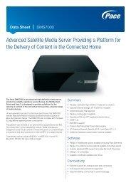 Data Sheet - Pace DMS7000 Satellite Media Server