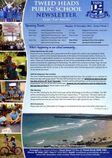 20 Newsletter Term 4 Week 7 19.11.12 Week 47 [pdf, 3 MB]