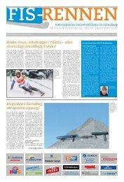 FIS-RENNEN Internationale Herren-Slaloms in Sörenberg