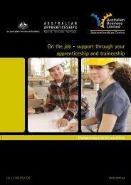 Why apprenticeships and traineeships work - Skillsroad