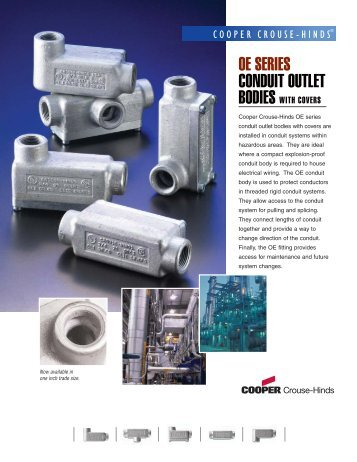 oe series conduit outlet bodies - Quebec Westburne