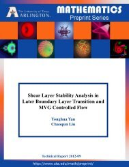Shear Layer Stability Analysis in Later Boundary Layer Transition ...
