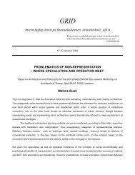 GRID Intern faglig debat på Kunstakademiets Arkitektskole, Afd 6