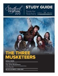 THE THREE MUSKETEERS - Stratford Festival