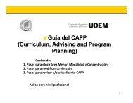 Guía del CAPP (Currículum, Advising and Program Planning)