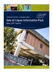 New OFF Licence - Upper Hutt City Council