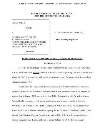 Plaintiffs Motion To Strike Defendants Motion For Summary Judgment