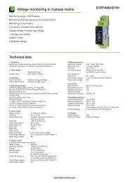 E1PF400VSY01 Voltage monitoring in 3-phase mains Technical data