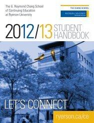 STUDENT HANDBOOK - The Chang School - Ryerson University