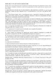 Portaria nº 233, de 24 de julho de 2008 - Ministério do ...
