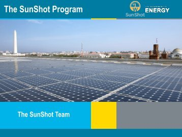 The SunShot Program - Institute for Energy Efficiency