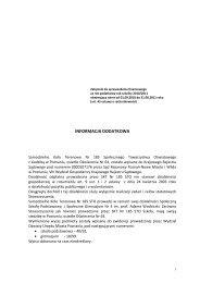 Informacja dodatkowa za rok szkolny 2010/2011 - skt185sto.org.pl