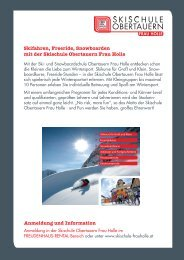 Skischule Obertauern Frau Holle Angebot 2011.indd