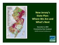 New Jersey's State Plan: Where We Are and What's Next 11-09