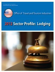 2012Sector Profile: Lodging - Office of Travel and Tourism Industries