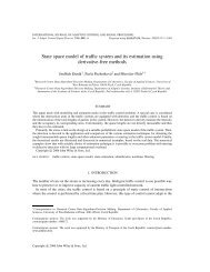 State space model of traffic system and its estimation using ...