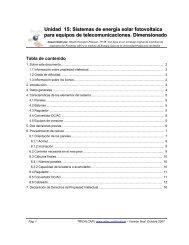 Unidad 15: Sistemas de energía solar fotovoltaica para ... - ItrainOnline