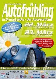 Autofrühling Bruck/Leitha · 22. und 23. März 2013 • www.autostadt.cc