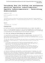 Geprüfte/r Industriemeister/in Elektrotechnik - VDV-Karriere