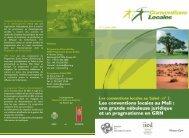 Les conventions locales au Mali - IED afrique