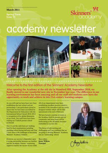 Newsletter 1 - Skinners' Academy