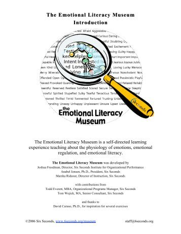 The Emotional Literacy Museum - Six Seconds