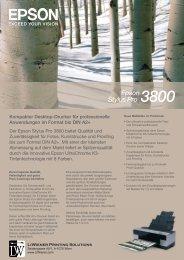Der Epson Stylus Pro 3800 bietet Qualität und Zuverlässigkeit für ...