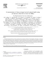 A measurement of time-averaged aerosol optical depth using air ...