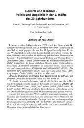 General und Kardinal - Politik und Unpolitik in der 1. Hälfte des 20 ...
