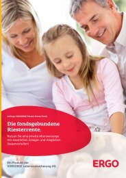 VORSORGE Riester-Rente Fonds - Anbieter