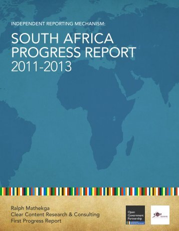 IRM |South AfricA ProgreSS rePort - Open Government Partnership