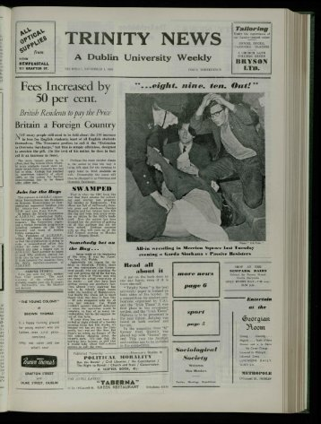The Dubliner - Trinity News Archive