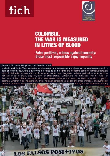 The war is measured in liters of blood - FIDH
