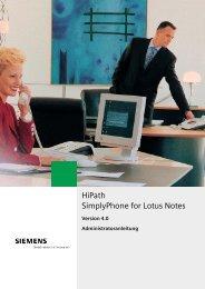 HiPath SimplyPhone for Lotus Notes - Siemens Enterprise
