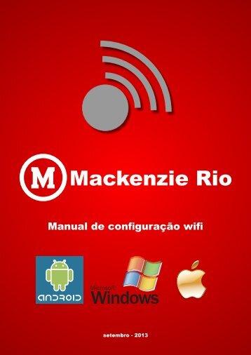 Configuração Wireless – Mackenzie O SSID ... - Mackenzie Rio