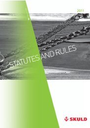 Statutes and Rules 2011 - Skuld