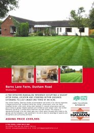 Barns Lane Farm, Dunham Road