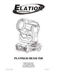 Platinum Beam 15R Pro User Manual - Elation Professional